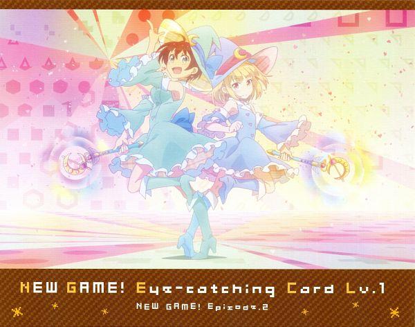 Tags: Anime, Dogakobo, NEW GAME!, Iijima Yun, Shinoda Hajime, Official Art, Scan, NEW GAME! - Eyecatcher, Eyecatcher