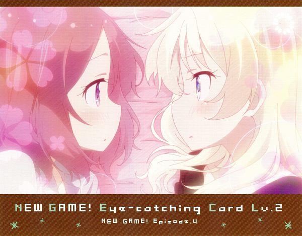 Tags: Anime, Dogakobo, NEW GAME!, Touyama Rin, Yagami Kou, NEW GAME! - Eyecatcher, Eyecatcher, Official Art, Scan