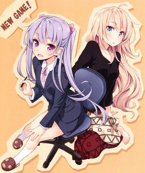 Tags: Anime, Tokunou Shoutarou, NEW GAME!, Fairies Story, Suzukaze Aoba, Yagami Kou, Official Art, Scan