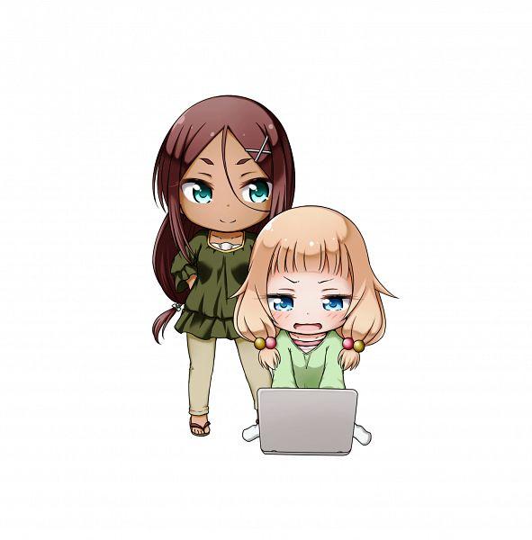 Tags: Anime, Kuena, NEW GAME!, Sakura Nene, Ahagon Umiko, PNG Conversion