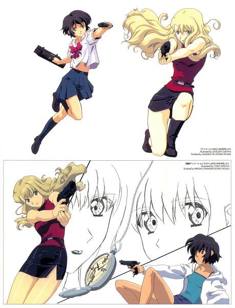 Tags: Anime, NOIR, Bouquet Mireille, Yuumura Kirika, Official Art, Scan