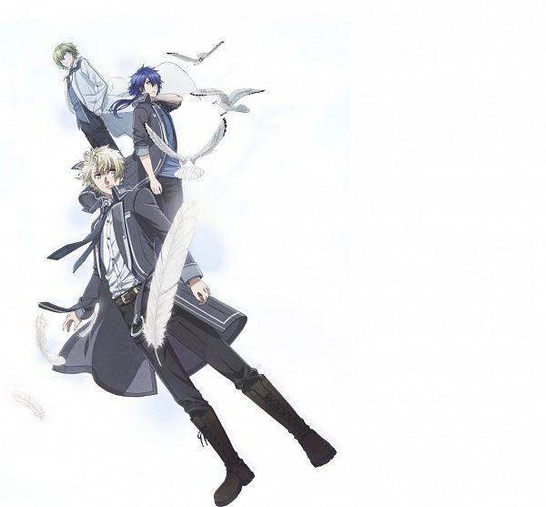 Tags: Anime, Takeuchi Yukari, Kinema Citrus, NORN9 ~Norn + Nonette~, Azuma Natsuhiko, Shukuri Akito, Yuiga Kakeru, PNG Conversion, Official Art