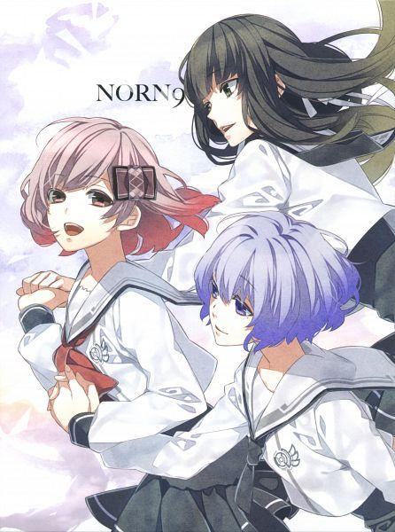 Tags: Anime, Teita, NORN9 ~Norn + Nonette~, Kuga Mikoto, Shiranui Nanami, Koharu (NORN9), Official Art, Scan, DVD (Source)