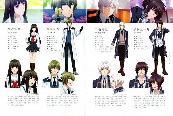 Tags: Anime, Takeuchi Yukari, Kinema Citrus, NORN9 ~Norn + Nonette~, Nijou Sakuya, Azuma Natsuhiko, Kagami Itsuki, Kuga Mikoto, Character Sheet, Scan, Official Art