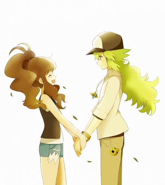 Tags: Anime, May (Pixiv Id 233774), Pokémon, N (Pokémon), Touko (Pokémon), NTouko