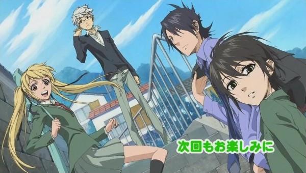 Tags: Anime, Nabari no Ou, Rokujou Miharu, Kumohira Thobari Durandal, Aizawa Kouichi, Shimizu Raimei, Official Art, Facebook Cover, King Of Nabari
