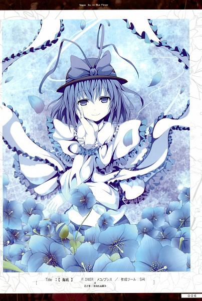Tags: Anime, Akeboshi Kagayo, Flower (Artbook), Touhou, Nagae Iku, Scan, Iku Nagae