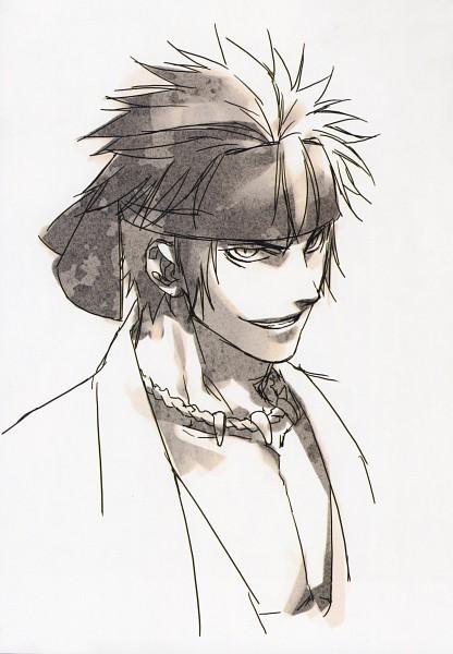 Tags: Anime, Kazuki Yone, IDEA FACTORY, Hakuouki Shinsengumi Kitan, Nagakura Shinpachi (Hakuouki), Mobile Wallpaper, Official Art, Scan