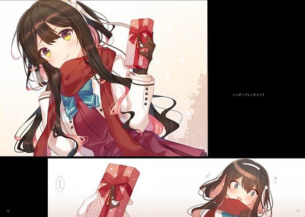 Tags: Anime, Hiiragi Aoi Koi, Kantai Collection, Naganami (Kantai Collection), Admiral (Kantai Collection), Fanart, Fanart From Pixiv, Pixiv