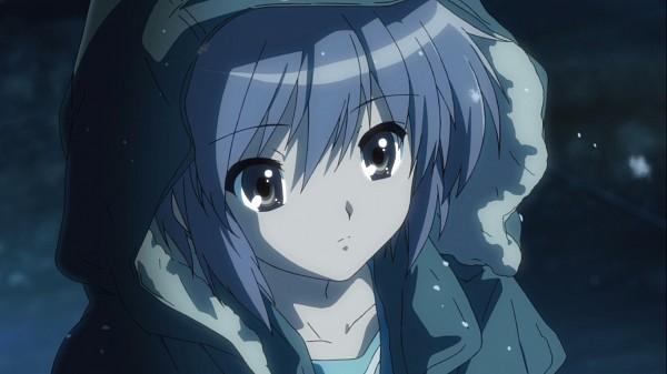 Tags: Anime, Suzumiya Haruhi no Yuuutsu, Nagato Yuki, Facebook Cover, Screenshot
