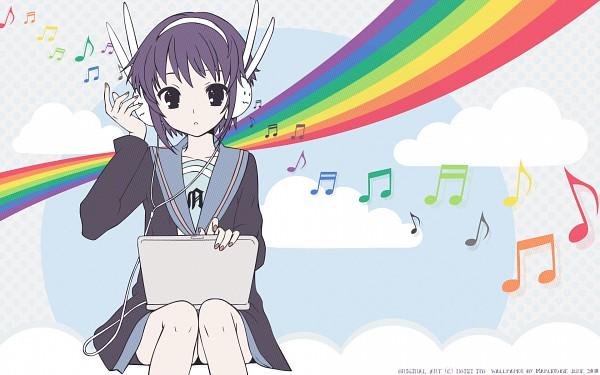 Tags: Anime, Suzumiya Haruhi no Yuuutsu, Nagato Yuki, Artist Request, Wallpaper