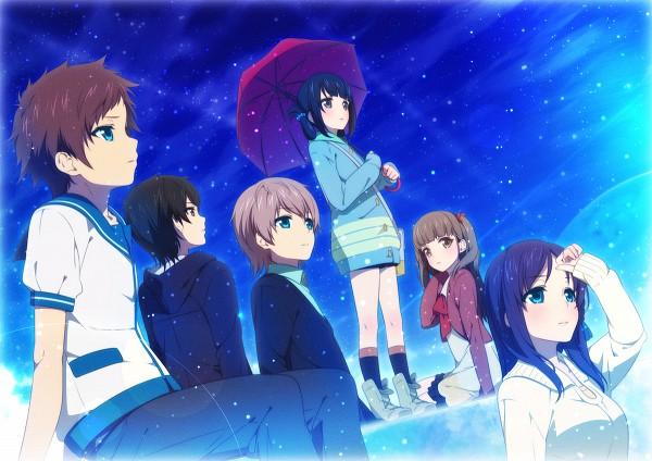 Tags: Anime, Ama Mitsuki, Nagi no Asukara, Shiodome Miuna, Kihara Tsumugu, Hiradaira Chisaki, Isaki Kaname, Hisanuma Sayu, Sakishima Hikari, Pixiv, Fanart, Fanart From Pixiv, PNG Conversion, Nagi-asu: A Lull In The Sea