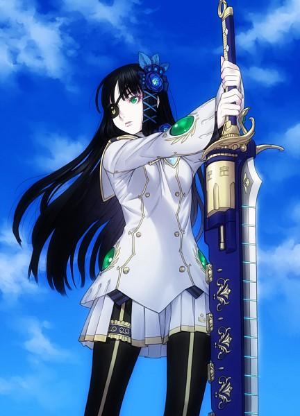 Tags: Anime, Kurojishi, Sakamoto Mineji, Sega, Phantasy Star Series, Phantasy Star Portable 2 Infinity, Phantasy Star Universe, Nagisa (Psp2i), Mobile Wallpaper