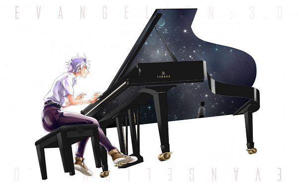 Tags: Anime, Kurashiki (Kas0), Neon Genesis Evangelion, Nagisa Kaworu, Ikari Shinji, Pixiv, Fanart, Wallpaper