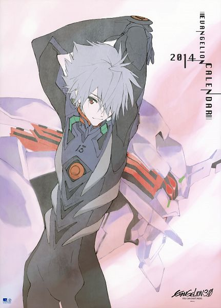 Tags: Anime, Honda Takeshi, Neon Genesis Evangelion, Evangelion Calendar 2014, Nagisa Kaworu, Eva 13, Scan, Calendar 2014, Calendar (Source), Mobile Wallpaper, Official Art