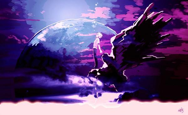 Tags: Anime, Waka (Pixiv1970032), Neon Genesis Evangelion, Nagisa Kaworu, Statue, Pixiv, Fanart From Pixiv, Fanart