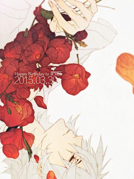 Tags: Anime, Hareo, Neon Genesis Evangelion, Nagisa Kaworu, Poppy, Fanart, Pixiv, Mobile Wallpaper