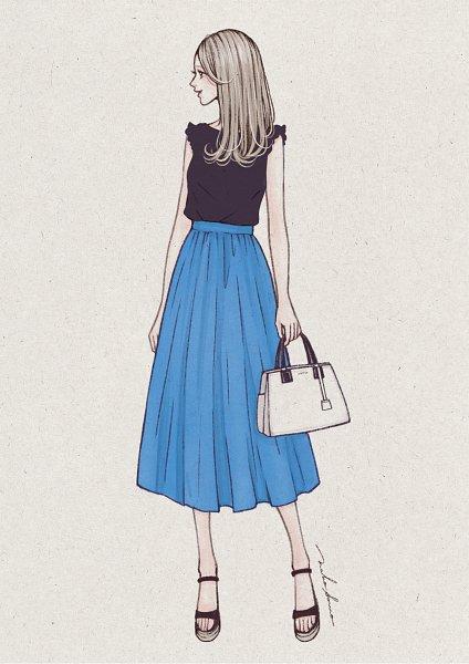 Tags: Anime, Naho Sono, Holding Bag, Pixiv, Original, Mobile Wallpaper