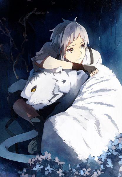 Tags: Anime, Takeru (Pixiv1766672), Bungou Stray Dogs, Nakajima Atsushi (Bungou Stray Dogs), White Tiger, Fanart, Fanart From Pixiv, Mobile Wallpaper, Pixiv