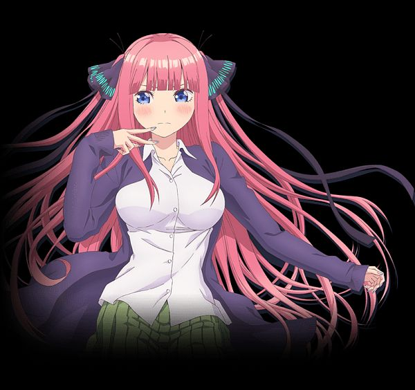 Tags: Anime, Nakamura Michinosuke, Tezuka Productions, Go-Toubun no Hanayome, Nakano Nino, Cover Image, Official Art