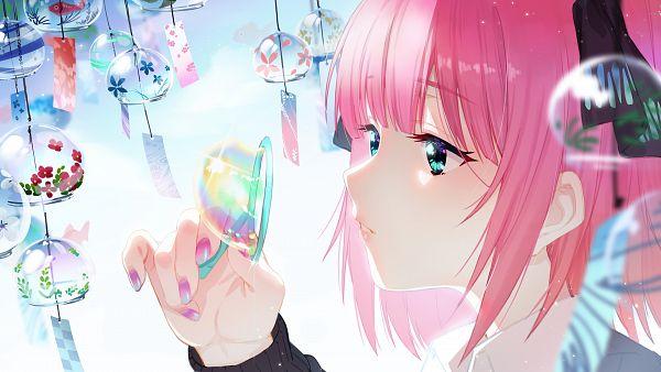 Tags: Anime, Pixiv Id 6341514, Go-Toubun no Hanayome, Nakano Nino, Wind Chime, Fuurin, Blowing, Multi-colored Nails, Fanart, Pixiv, Fanart From Pixiv, Wallpaper
