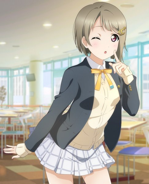 Tags: Anime, Pixiv Id 16865283, Love Live! School Idol Festival ALL STARS, Nakasu Kasumi, Finger On Cheek, Fanart From Pixiv, Pixiv, Fanart