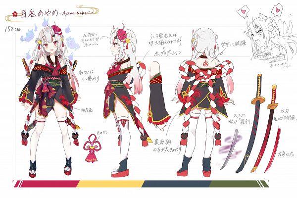 Tags: Anime, Nana Kagura, Hololive, Ayame Ch., Nakiri Ayame, Official Art