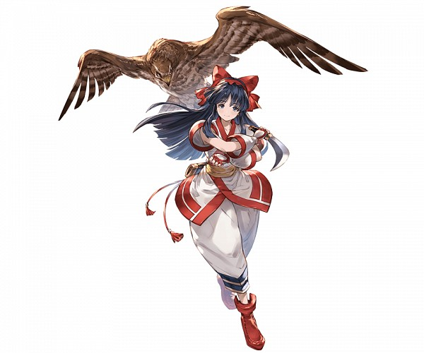 Tags: Anime, Minaba Hideo, Cygames, Samurai Spirits, Granblue Fantasy, Nakoruru, Eagle, Cover Image, Official Art
