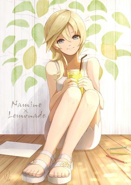 Tags: Anime, Pixiv Id 3854464, Naminé, Lemon, Tubule, Lemonade, Pixiv, Fanart, Fanart From Pixiv