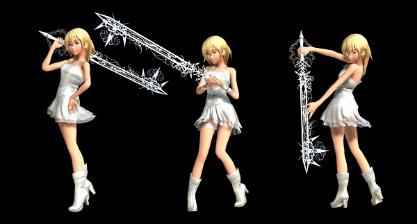 Tags: Anime, Monty Oum, Dead Fantasy, Kingdom Hearts, Kingdom Hearts II, Naminé, Keyblade, Facebook Cover, 3D, Fanart