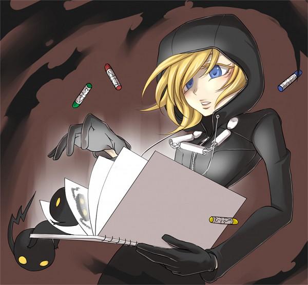 Tags: Anime, Kingdom Hearts II, Naminé, Sketchbook, Crayon, Heartless, Organization XIII