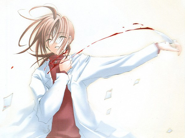 Tags: Anime, Tsutae Yuzu, Suki na Mono wa Suki Dakara Shouganai!!, Nanami Kai, Suicide, Flying Paper, Dying, CG Art