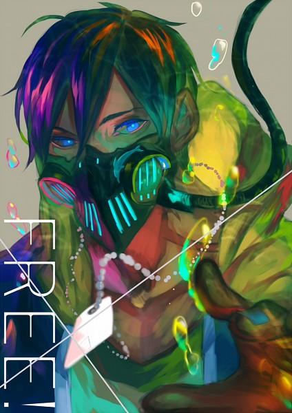 Tags: Anime, bwusagi, Free!, Nanase Haruka (Free!), Mobile Wallpaper, Fanart