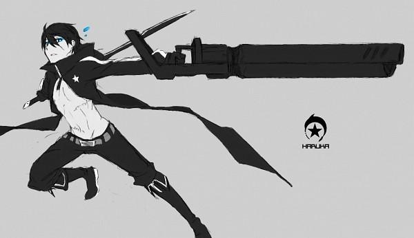 Tags: Anime, Pixiv Id 3300328, Free!, Nanase Haruka (Free!), Black★Rock Shooter (Parody), Black★Rock Shooter (Cosplay), Fanart From Pixiv, Fanart, Pixiv, Sketch