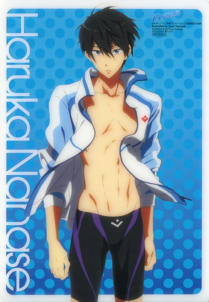 Tags: Anime, Kyoto Animation, Free!, Nanase Haruka (Free!), Jammer, Official Art, Scan, Mobile Wallpaper