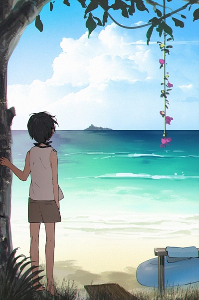 Tags: Anime, Hana (Pixiv63727), Free!, Nanase Haruka (Free!), Goggles Around Neck, Fanart From Pixiv, Pixiv, Fanart