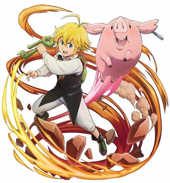 Tags: Anime, studioking, Nanatsu no Taizai (Suzuki Nakaba), Boku & Dragons, Hawk (Nanatsu no Taizai), Meliodas (Nanatsu no Taizai), Official Art