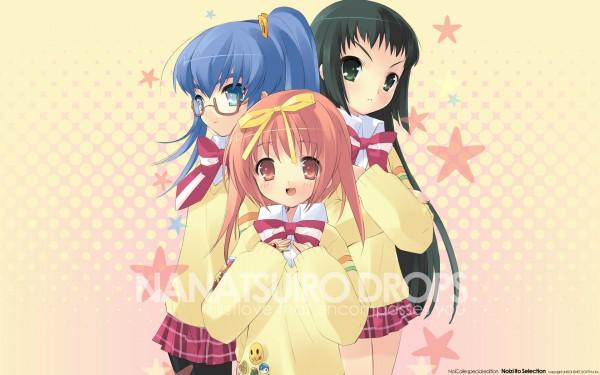 Tags: Anime, Ito Noizi, Nanatsuiro Drops, Yuuki Nona, Yaeno Nadeshiko, Akihime Sumomo, Wallpaper