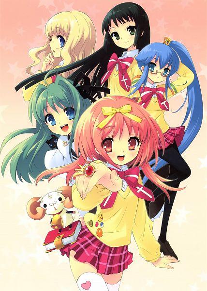 Tags: Anime, Ito Noizi, SO-U-EN, Nanatsuiro Drops, Satsuki Julirsia, Yuuki Nona, Yaeno Nadeshiko, Koiwai Flora, Croix, Yuki-chan, Akihime Sumomo, Official Art, Scan