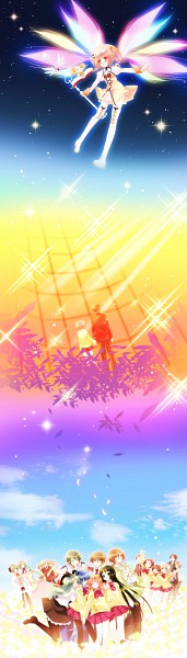 Tags: Anime, Yuuma, Nanatsuiro Drops, Kisaragi Natsume, Yaeno Nadeshiko, Satsuki Julirsia, Akihime Sumomo, Matsuda Arthur, Koiwai Flora, Tsuwabuki Masaharu, Fukamichi Nobuko, Yuki-chan, Amamori Yayoi