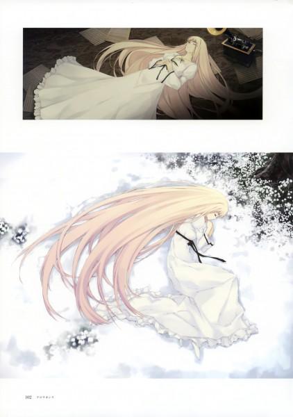 Tags: Anime, Sugina Miki, Innocent Grey, Nuregarasu, Caucasus, Nanatsuki Shion, Snowdrop, Mobile Wallpaper