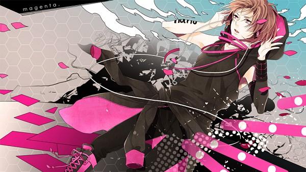 Tags: Anime, Shk, Nano (Nico Nico Singer), Jacket Around Waist, Magenta, Facebook Cover, Nico Nico Singer, Pixiv