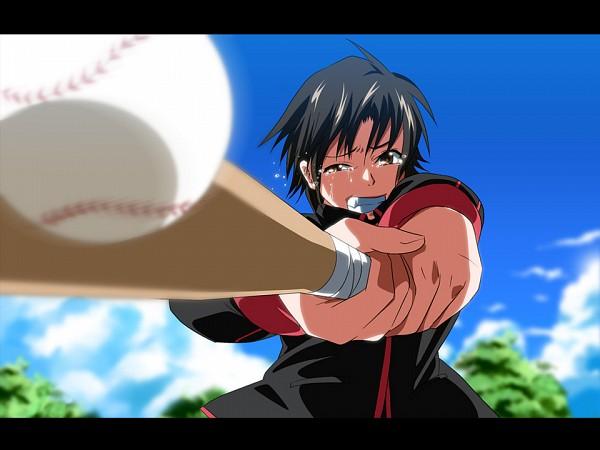 Tags: Anime, K3 (Dolphin Brain), Little Busters!, Baseball Ball, Baseball, Fanart