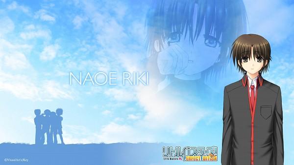 Tags: Anime, Hinoue Itaru, Na-ga, Little Busters!, Naoe Riki, Wiping Tears, HD Wallpaper, Official Art, Wallpaper