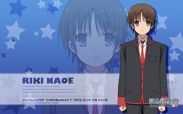 Tags: Anime, Iizuka Haruko, Little Busters!, Naoe Riki, Writing Error, Official Art, Official Wallpaper, Wallpaper