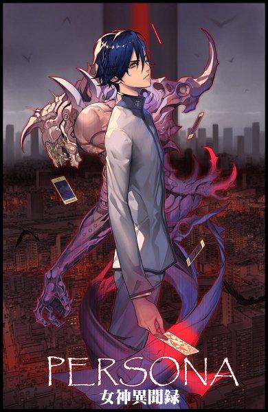 Tags: Anime, Oda Non, Shin Megami Tensei: Persona, Naoya Toudou, Vishnu (Persona), Pixiv, Fanart, Fanart From Pixiv