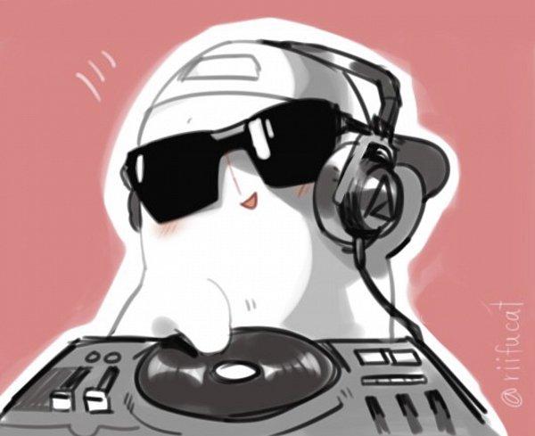 Tags: Anime, Riifucat, Undertale, Napstablook, Disc Jockey