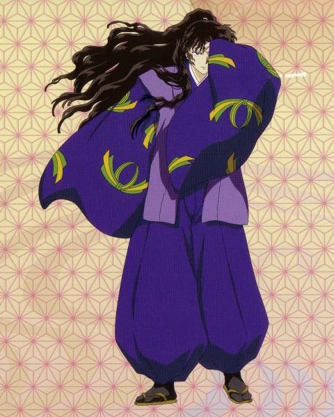 Tags: Anime, Sunrise (Studio), InuYasha, Naraku, Official Art, Self Scanned, Scan