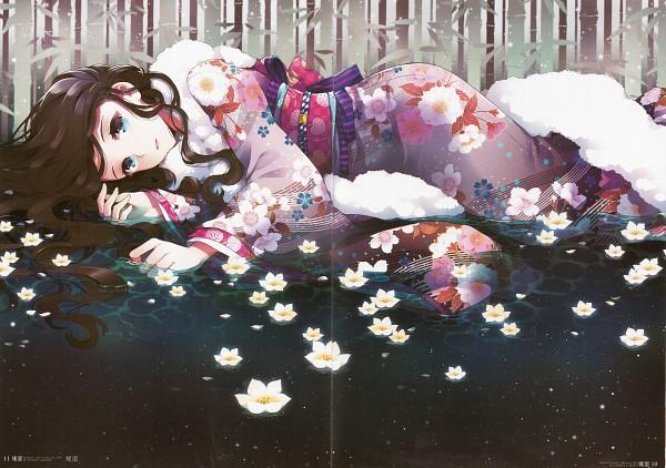 Tags: Anime, Nardack, Butterfly Garden, Scan, Pixiv, Original