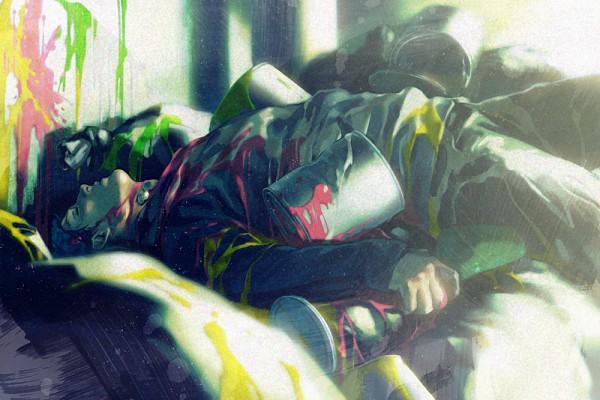 Tags: Anime, A K I, Gyakuten Saiban, Naruhodou Ryuuichi, Painting (Action), Paint Bucket, Pixiv, Fanart, Phoenix Wright
